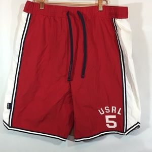 Men's Vintage 90s Polo Sport swim trunks sz Large